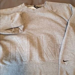 nike over sized cropped sweater